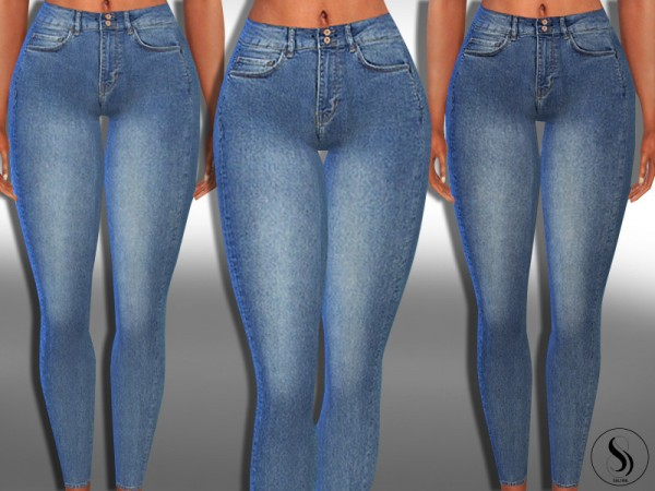 The Sims Resource: Push Up Ankle Jeans by Saliwa