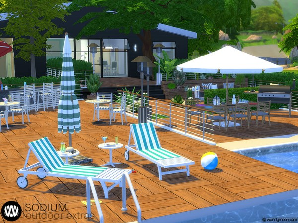 The Sims Resource: Sodium Outdoor Extras by wondymoon