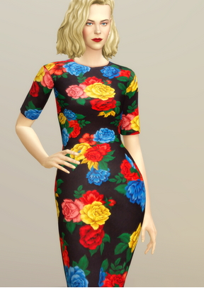 Rusty Nail: Colorful Floral Dress