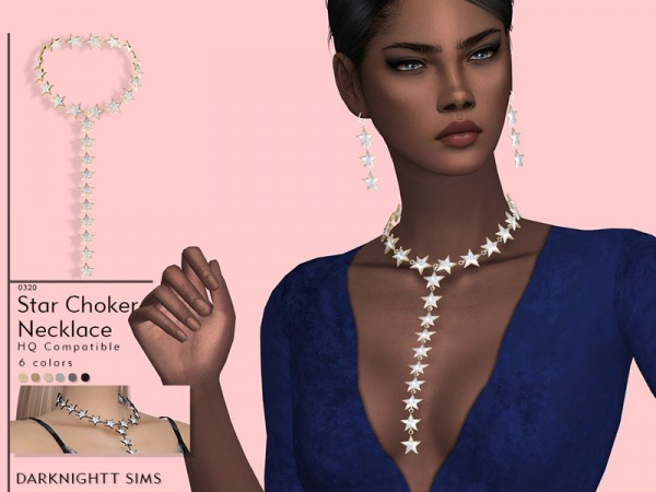 The Sims Resource: Star Choker Necklace by DarkNighTt