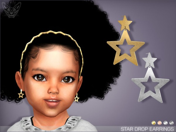 Giulietta Sims: Star Drop Earrings For Toddlers