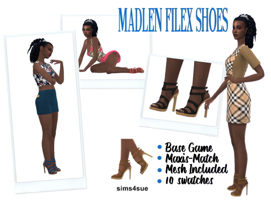 Sims 4 Sue: Madlen`s Filex Shoes recolored