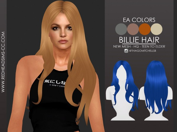 Red Head Sims: Billie Hairstyle