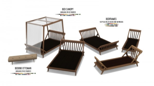 Simsational designs: Coba Collection   Bedroom Set with 14 Items