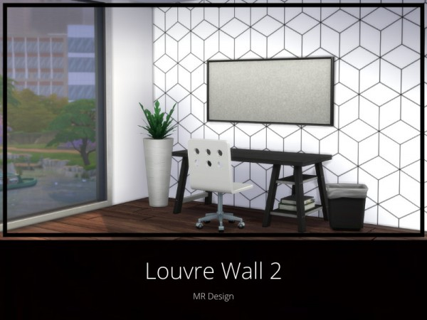 The Sims Resource: Louvre Wall 2 by MR Design