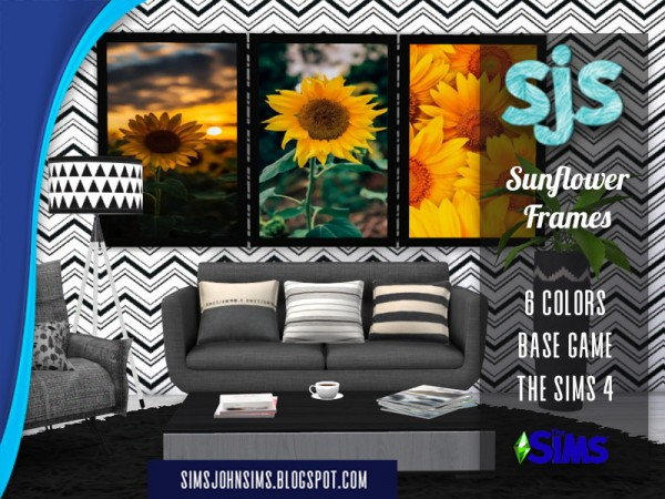 The Sims Resource: Sunflower Frames by SimsJohnSims