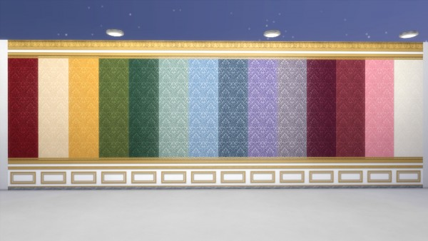 Mod The Sims: Salon des Nobles Wall Covering Set by TheJim07