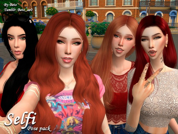 The Sims Resource: Selfi   Pose pack by Beto ae0