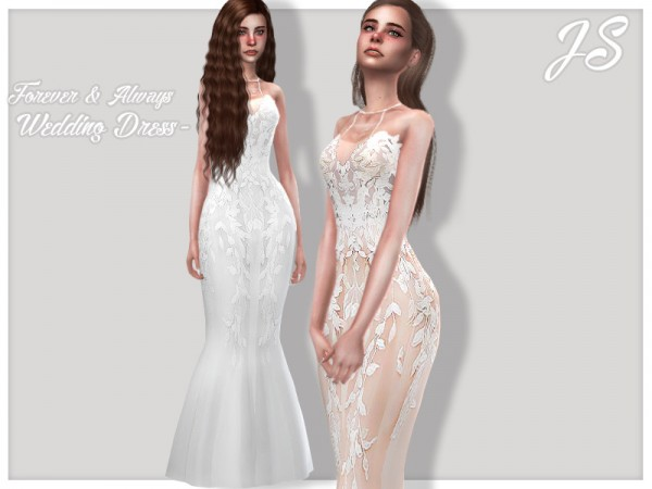 The Sims Resource: Forever and Always Wedding Dress by JavaSims