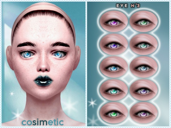 The Sims Resource: Eyecolors N3 by cosimetic