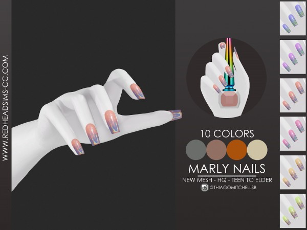 Red Head Sims: Mary Nails