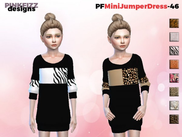 The Sims Resource: Mini Jumper Dress   P46 by Pinkfizzzzz