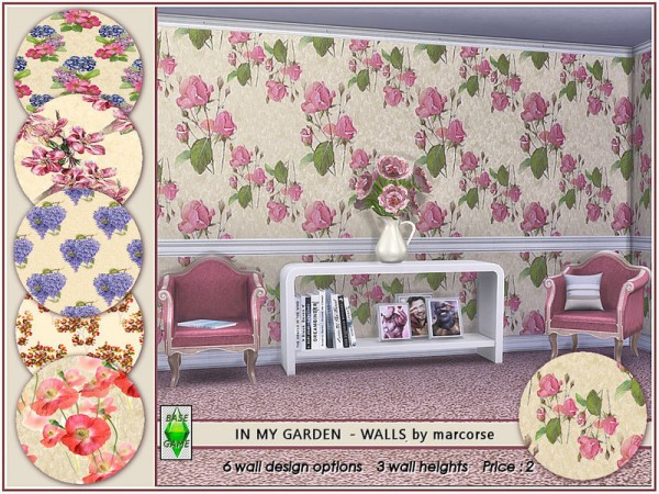 The Sims Resource: In My Garden   Walls by marcorse