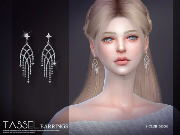 The Sims Resource: LL Earrings 202007 by S Club