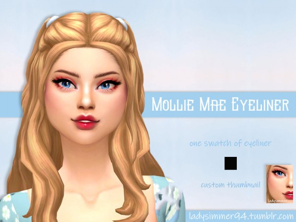 The Sims Resource: Mollie Mae Eyeliner by LadySimmer94