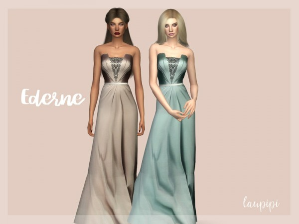 The Sims Resource: Ederne Dress by Laupipi
