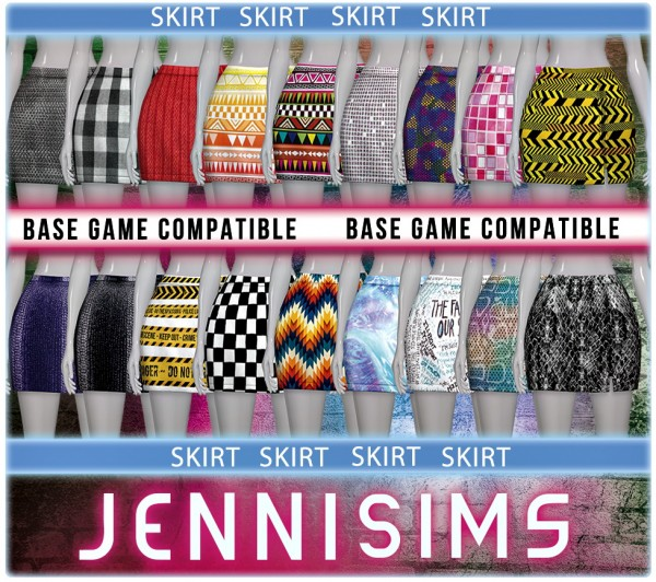 Jenni Sims: Base Game Compatible Skirt