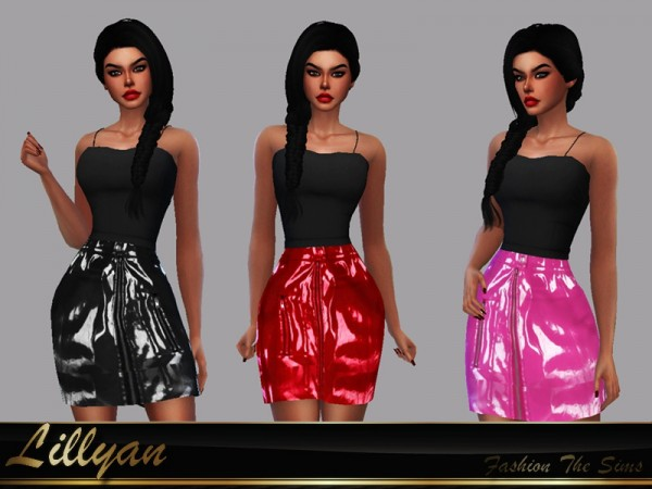 The Sims Resource: Sandy leather skirt by LYLLYAN