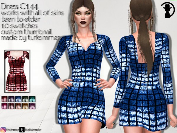The Sims Resource: Dress C144 by turksimmer