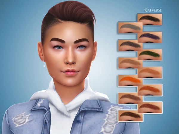 The Sims Resource: Skye Eyebrows by KatVerseCC