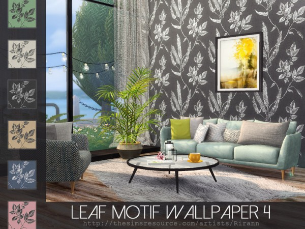 The Sims Resource: Leaf Motif Wallpaper 4 by Rirann