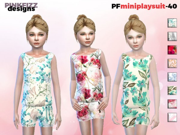The Sims Resource: Mini Playsuit by Pinkfizzzzz