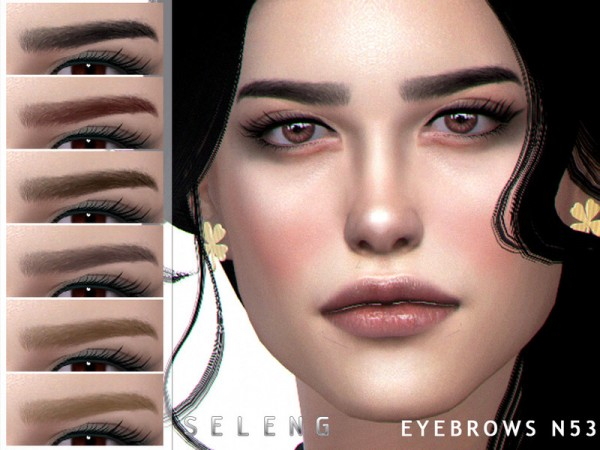 The Sims Resource: Eyebrows N53 by Seleng