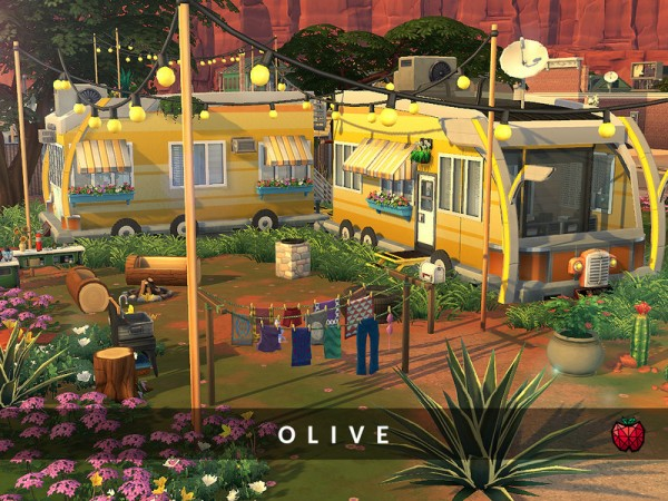 The Sims Resource: Olive   tiny home   no cc by melapples