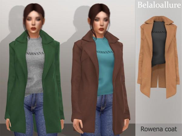 The Sims Resource: Belaloallure Rowena coat by belal1997