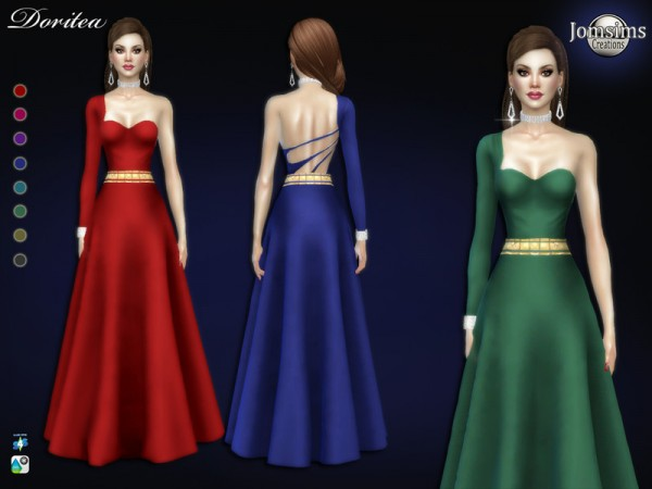 The Sims Resource: Droritea dress by jomsims