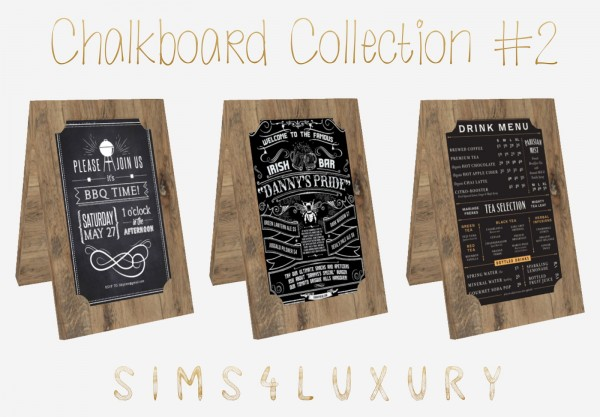 Sims4Luxury: Chalkboard Collection 2