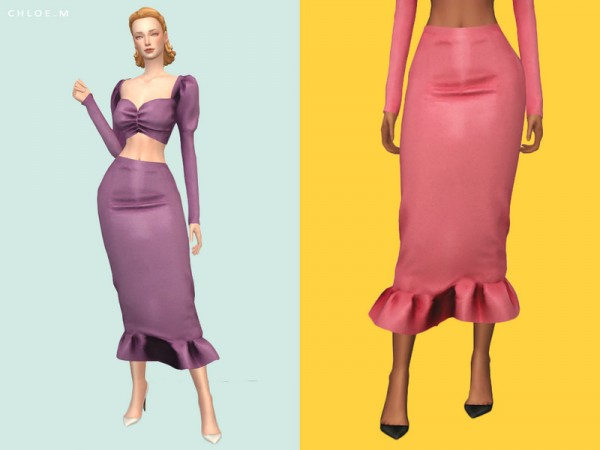 The Sims Resource: Fishtail Skirt by ChloeM