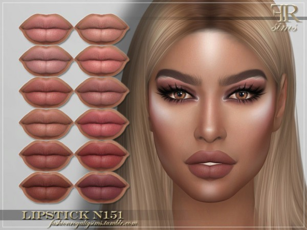 The Sims Resource: Lipstick N151 by FashionRoyaltySims