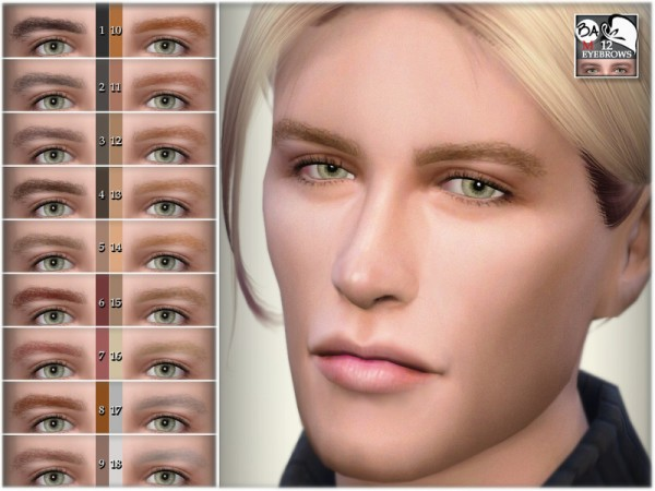 The Sims Resource: Eyebrows 12 by BAkalia