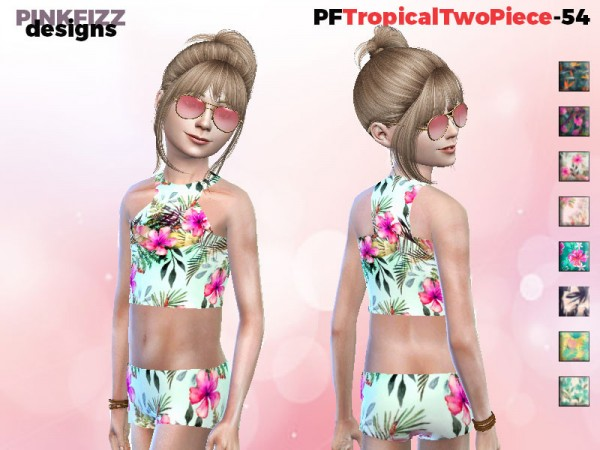 The Sims Resource: Tropical Two Piece   PF54 by Pinkfizzzzz
