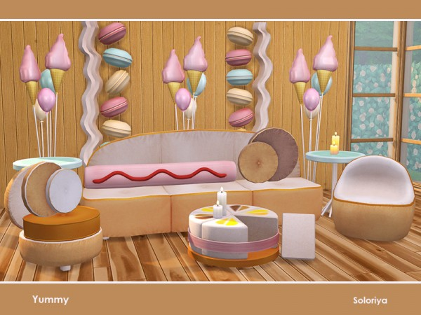 The Sims Resource: Yummy Furniture by soloriya