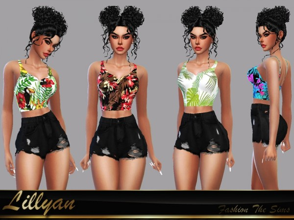 The Sims Resource: Top Cassandra by LYLLYAN