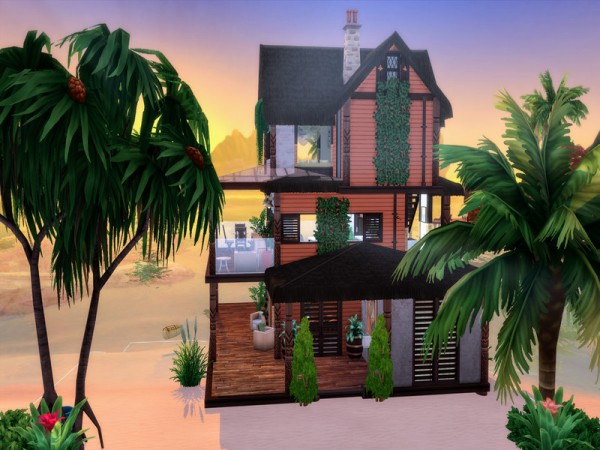 The Sims Resource: Peach Tree Retreat by LJaneP6