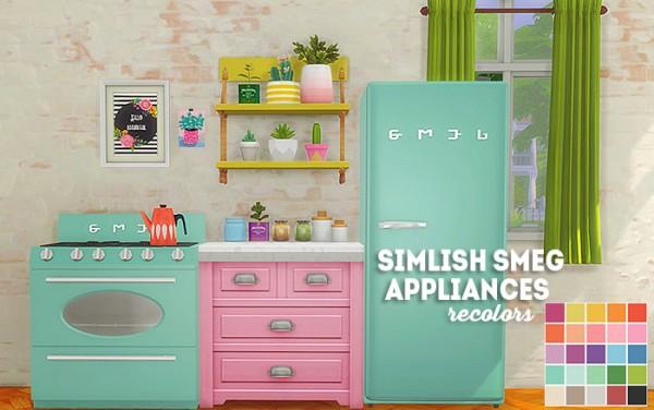 LinaCherie: Simlish smeg appliances   recolors