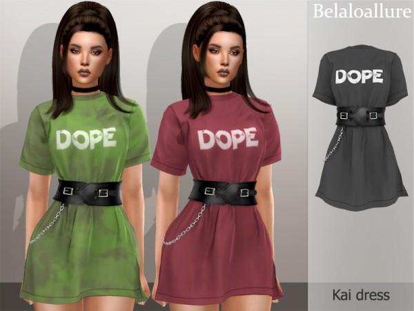 The Sims Resource: Belaloallure Kai dress by belal1997