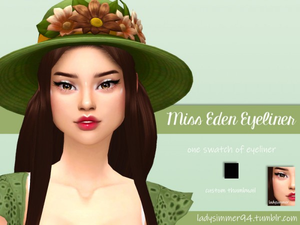 The Sims Resource: Miss Eden Eyeliner by LadySimmer94