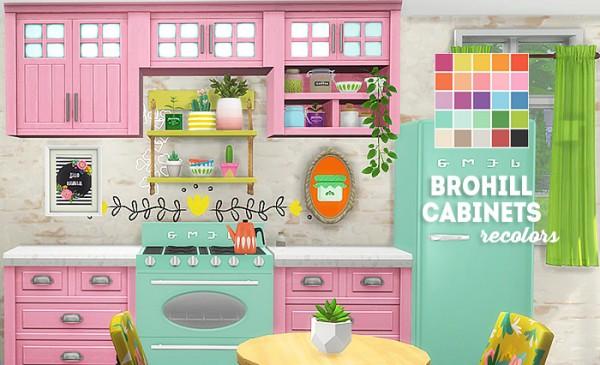LinaCherie: Brohill cabinets recolors