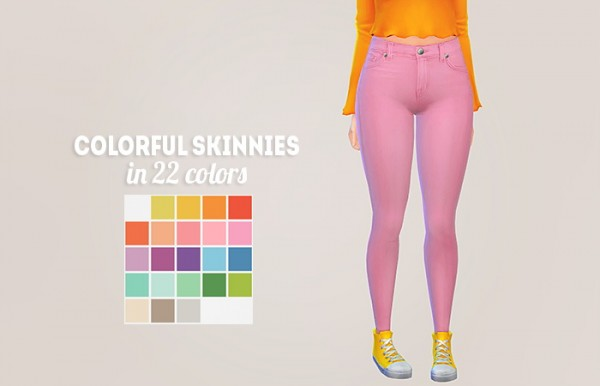 LinaCherie: Colorful skinnies