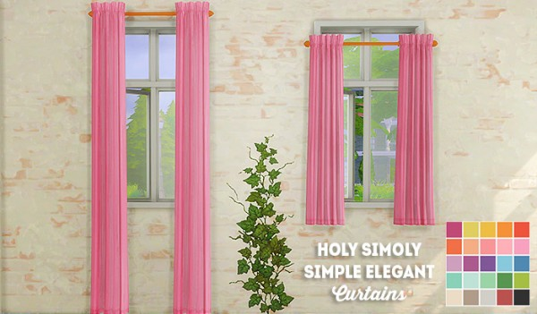 LinaCherie: Holy Simoly simple elegant curtains recolors