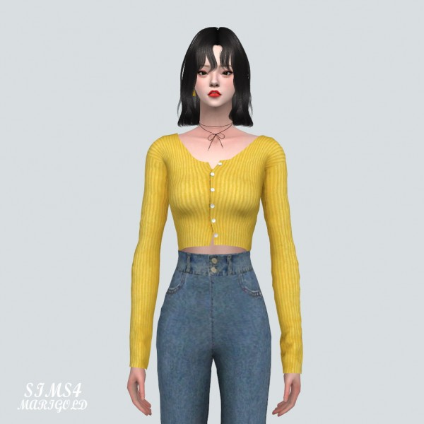SIMS4 Marigold: B Crop Cardigan