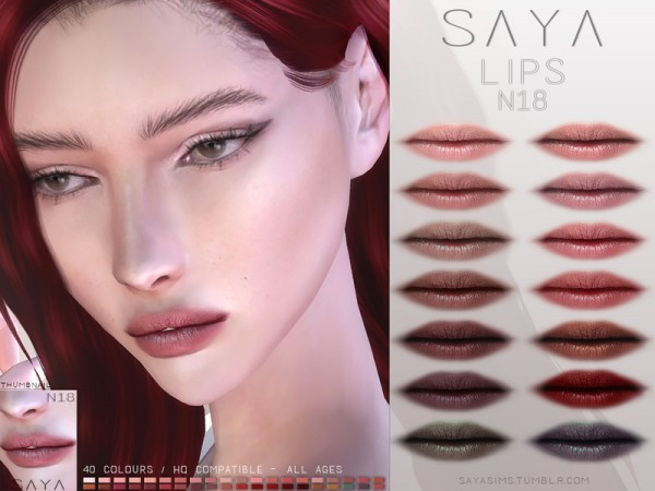 The Sims Resource: Lips N18 by SayaSims