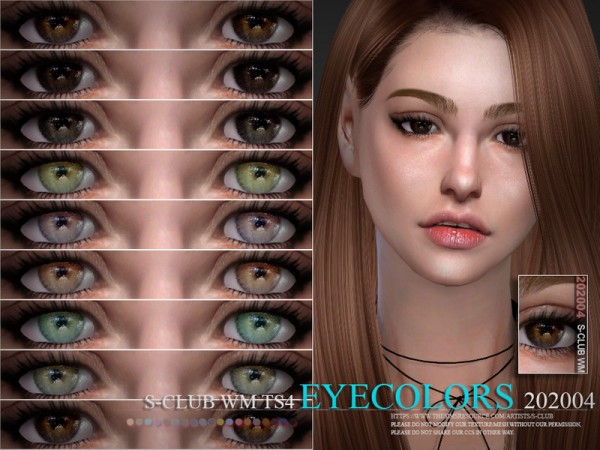 The Sims Resource: Eyecolors 202004 by S Club