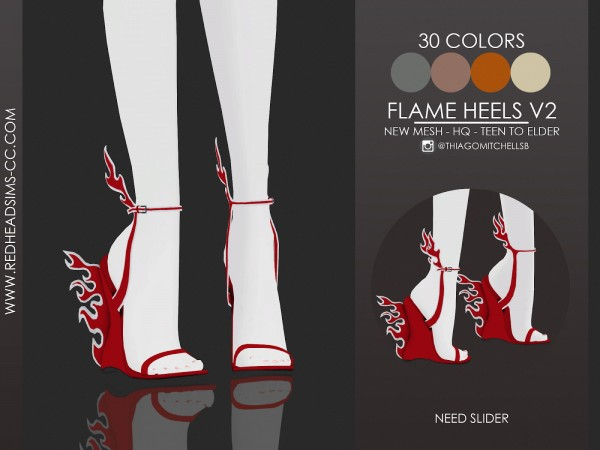 Red Head Sims: Flame Heels