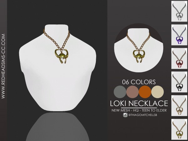 Red Head Sims: Loki Necklace