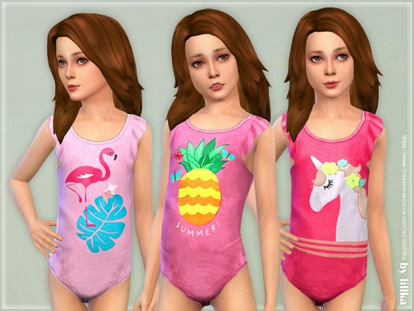 The Sims Resource: Swimsuit for Girls 03 by lillka